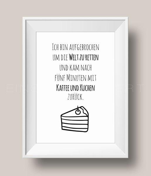 'KAFFEE UND KUCHEN' Kunstdruck / Einsaushundert von Einsaushundert auf DaWanda.com