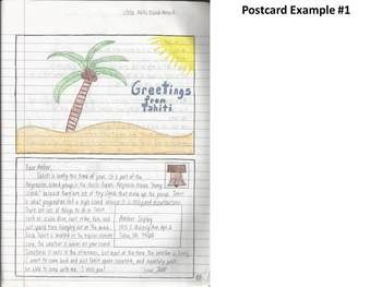 Geography Interactive Notebook Activity Idea-Postcard