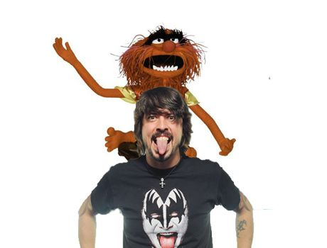 Dave Grohl and Animal two of my favorite drummers in the world. They both make me smile ; )