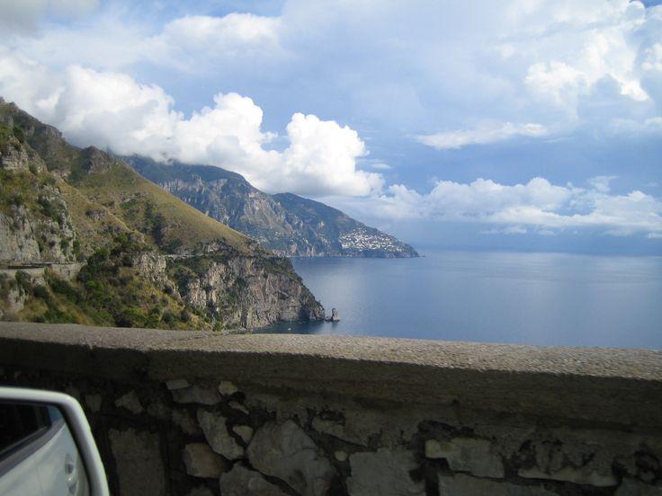 Sorrento coast on the road