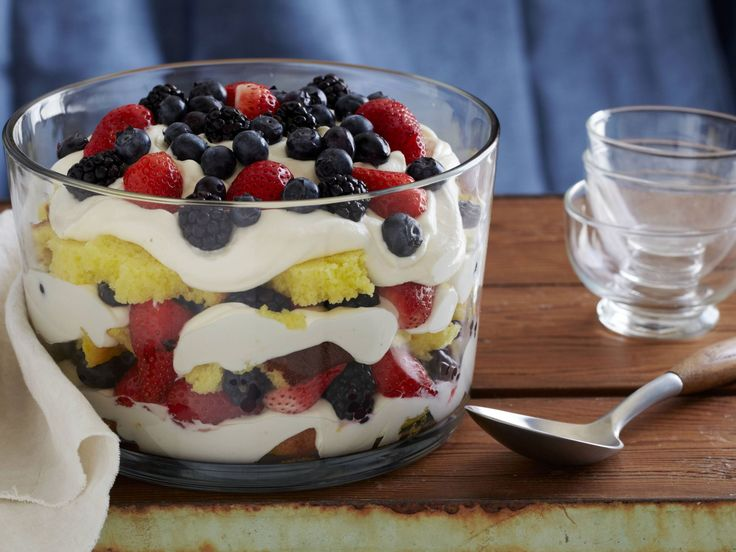 Lemon Curd Trifle with Fresh Berries : Layer pound cake, berries, lemon curd and…