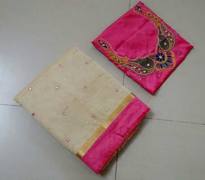 Kota Cotton Mix Silk Sarees With Maggam Work Blouse | Buy Online Kota Cotton Mix Silk Sarees  http://ift.tt/2tkXdpA  Kota Cotton Mix Silk Sarees with mirror work and patch border with Muggam work blouse  Cotton  Kota Cotton Mix Silk SareesKota cotton mix silk sarees with mirror work and patch border with Muggam work blouse  http://ift.tt/2sBfhhV