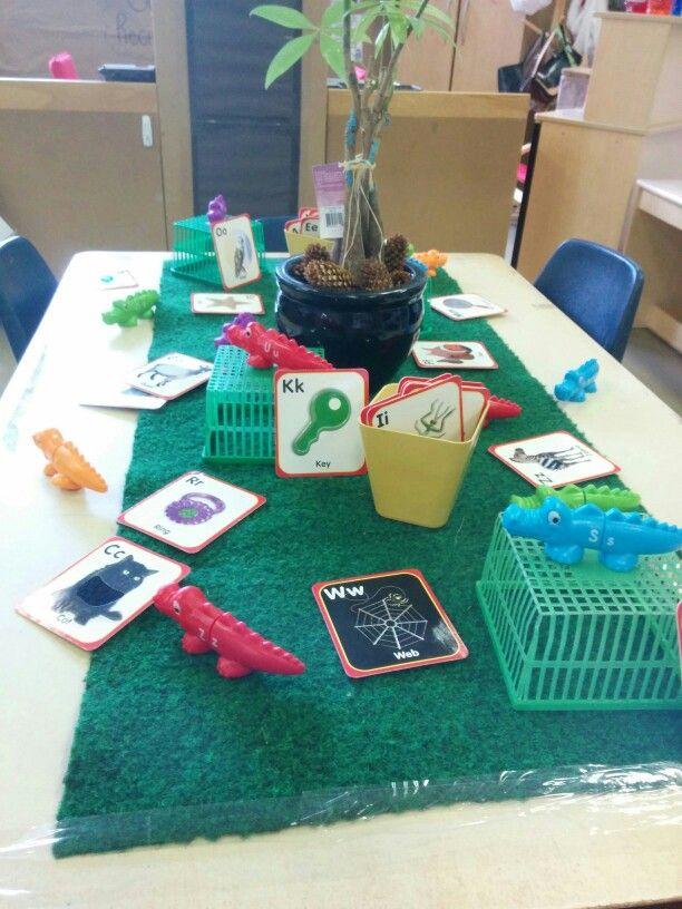 Alphabet Cards with Alphabetic dinosaurs.