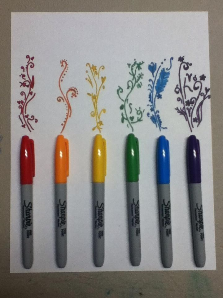 colorful sharpie designs notebook - Google Search