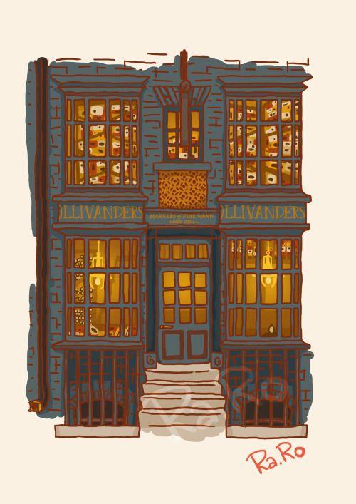 Diagon Alley: Ollivander Shop by RaRo81