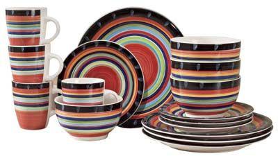 8. Gibson Home 97694. 16r Casa Stella 16-Piece Dinnerware Set