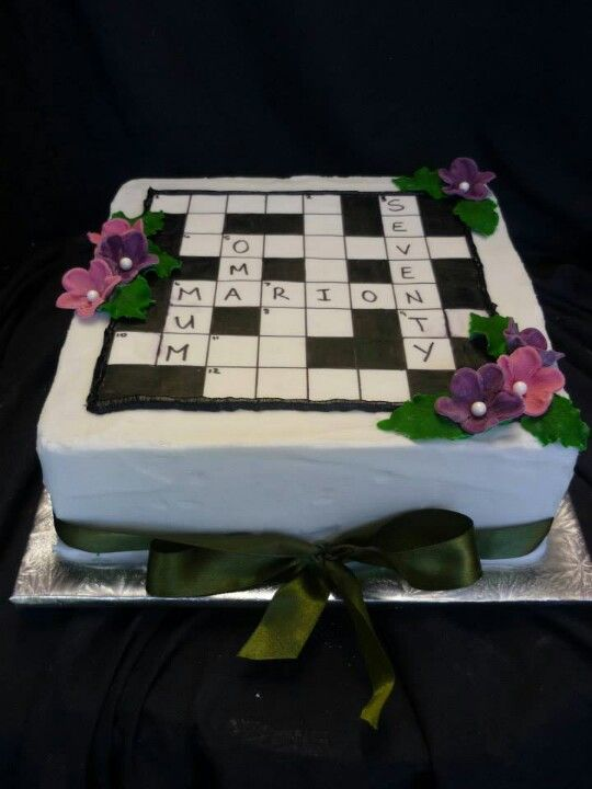 Crossword puzzle cake - Mike Ideas on cakes I would like ...