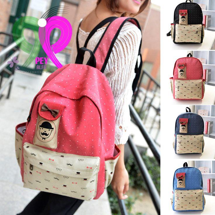 BANDOLERA SATCHEL SEÑORITA Completa tu estilo y look este regreso a clases con esta linda mochila. Más modelos e información en: www.facebook.com/PEY.ALFA.Accesorios