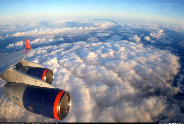 Plane views from my window seat - Ilyushin Il-96-300 over Russia