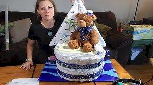 How to make a Sail Boat diaper cake