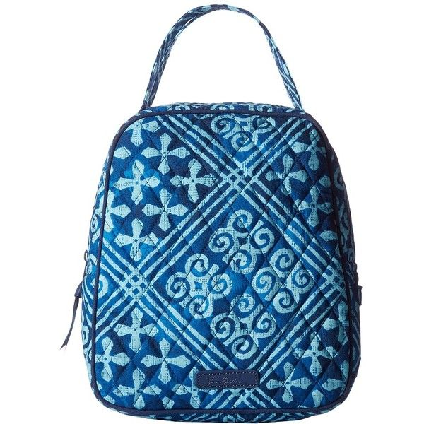 Vera Bradley Lunch Bunch (Cuban Tiles) Bags ($34) ❤ liked on Polyvore featuring bags, handbags, blue purse, vera bradley purses, vinyl purse, blue handbags and vera bradley handbags