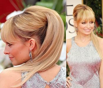 Nicole Richie - Bouffant ponytail @Jamie Heller
