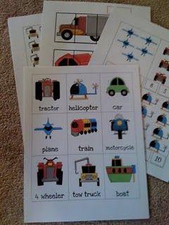 Transportation printables #preschool #kindergarten