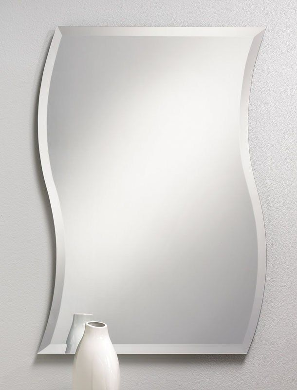1000 images about frameless mirrors on pinterest oval - Frameless beveled mirrors for bathroom ...
