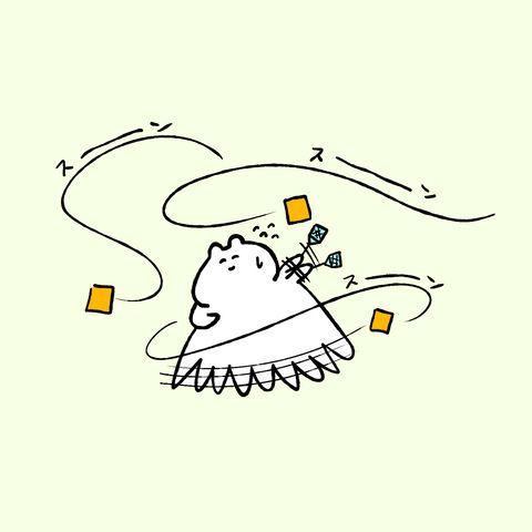 「空飛ぶ謎の油揚げ」/「STUDY」のイラスト [pixiv]