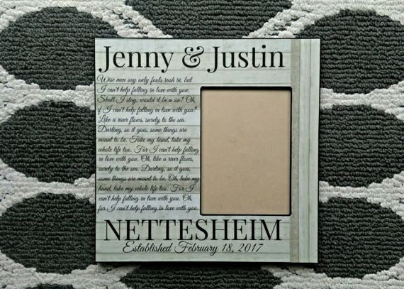 Personalized Wedding Picture Frame  Wedding Vow Picture Frame