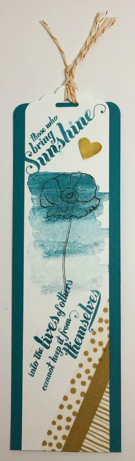 stampin 39 up easy diy bookmark gift card holder is a
