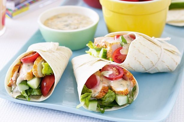 Portuguese chicken wraps. Healty, fast and cheap lunch recipes