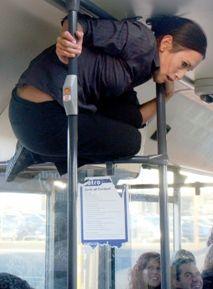 Back of the Bus. Java Dance Company. Dancer Natalie Hona