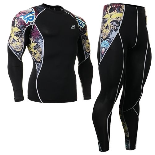 49.90$  Buy here - http://alirio.shopchina.info/go.php?t=32391516439 - 2016 cycling clothing set sports clothing set top leopard sports sets tattoo design leggings ropa de segunda mano online  #aliexpress