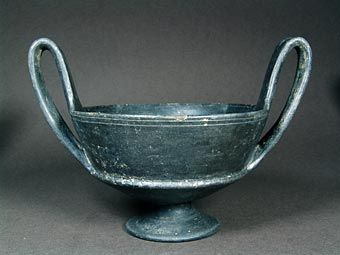 Όστρακο Αρχαία Τέχνη, ετρουσκική κεραμικής bucchero Ware Κάνθαρος, ca. 600 π.Χ.