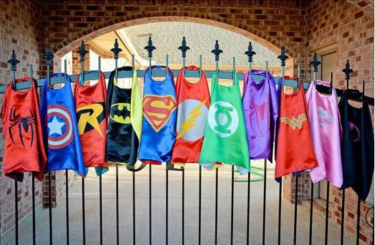 10x Flash Superhero Capes. Superhero Birthday a Party. Party Favors. by LilPartyTreasures on Etsy