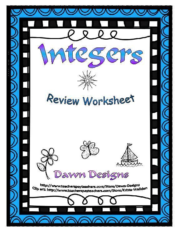 math worksheet : best 25 adding integers worksheet ideas on pinterest : Dividing Integers Worksheet Kuta