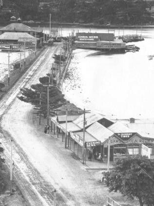 In the 1920s before the Spit Bridge was built in the Lower North Shore of Sydney.