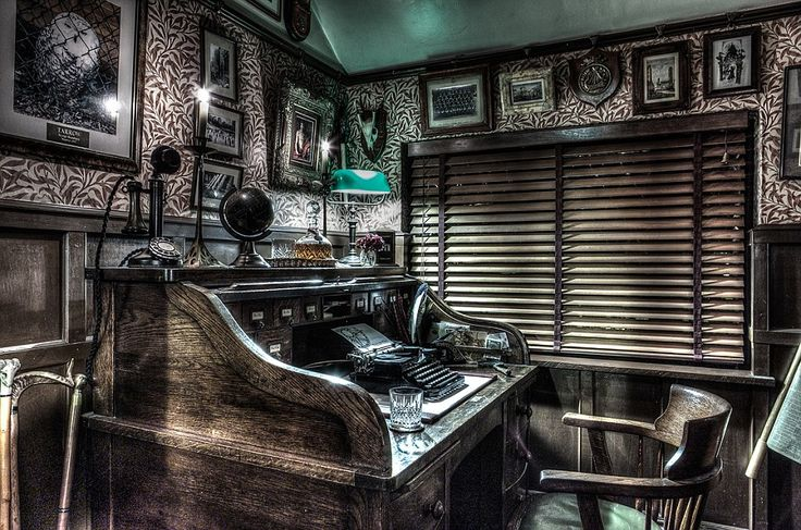 A taste of the past: John's favourite room is the 1920s New York office, complete with a h...