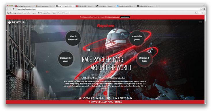 bij deze site vond ik het zwart wit in combinatie met het rode erg mooi. er zit een prachtig lijnen spel in. de site heeft een volledig vullende achtergrond. en het doet me denken aan 'need for speed world'.