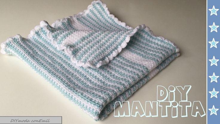 Mantita o colchita de bebe en crochet para principiantes - Labores de ganchillo para principiantes ...