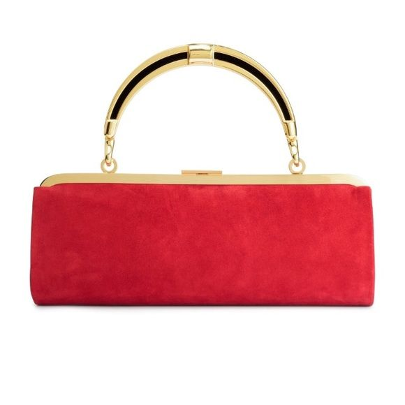 BALMAIN X H&M HANDBAG/CLUTCH BALMAIN X H&M . Exclusive collection. Limited edition. Brand new. Never worn. New with tags. Red suede. Clutch or handbag. Sold out everywhere. This is also being sold on m e r cari. As seen on KENDALL JENNER on the BALMAIN X H&M runway!! Balmain Bags Clutches & Wristlets
