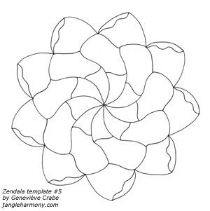 Zendala Templates! Zendalas are a fusion of Zentangle® and mandalas. 4 more templates if you follow the link.
