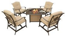 Hanover - Traditions 5-Piece Outdoor Lounge Set - Natural Oat