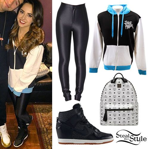 becky g: black & white colorblock hoodie ...