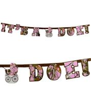 It's A Doe pink camo baby girl banner