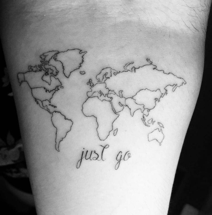 First tattoo ... absolutely in love ❤️    Made by the lovely Daniel Winter ! Incredible artist!   July 09 2015 #tattoo #art #worldmap