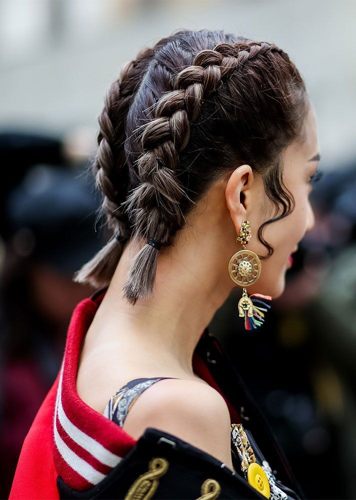 STYLECASTER | Braided Hairstyles Ideas | short french braids