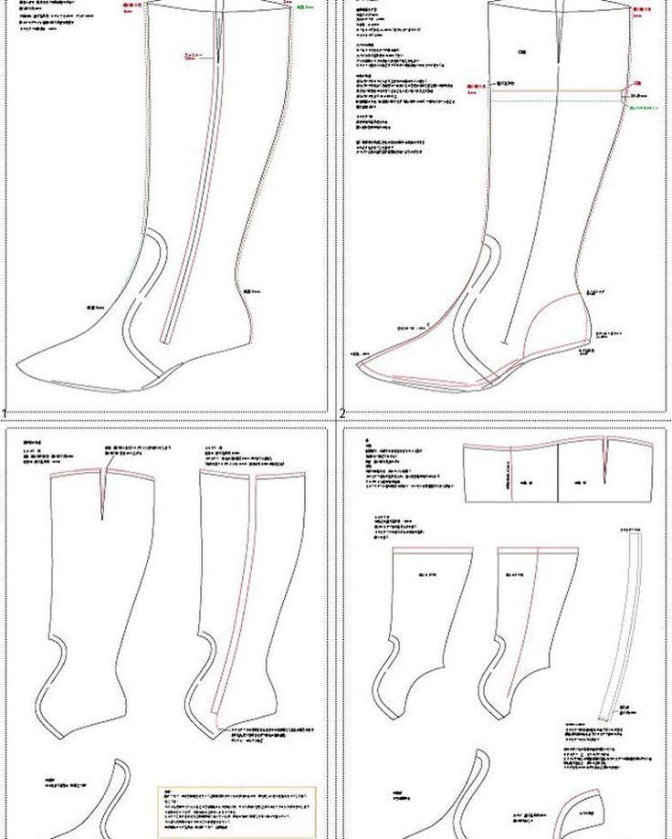やっとブーツパターン終了。  #boots #pattern #shoemaking #nikon #d3300 #靴作り #ブーツ #longboots #ロングブーツ