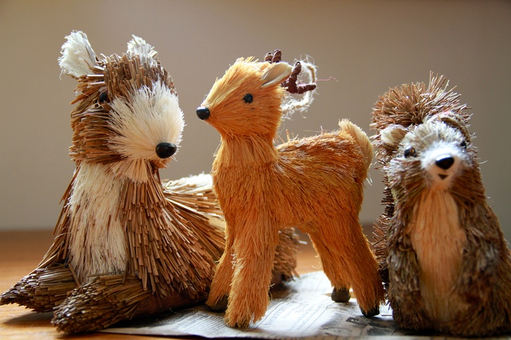 We love these cute Christmas decoration animals