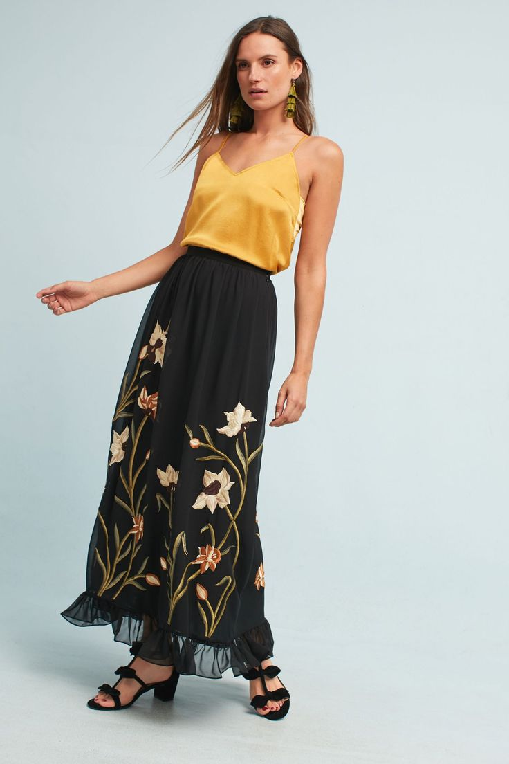 Shop the Flounced Floral Maxi Skirt and more Anthropologie at Anthropologie today. Read customer reviews, discover product details and more.