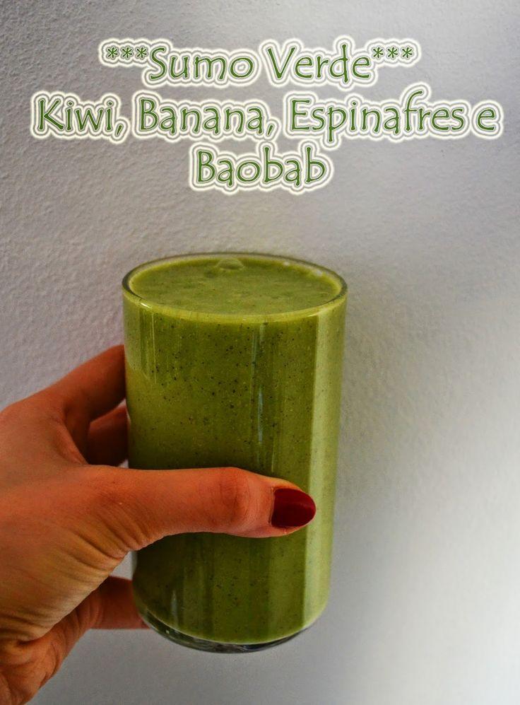 Entre Tachos e Sabores- Sumo Verde de Kiwi, Banana, Espinafres e Baobab da Iswari