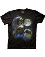 Three Wolf Moon Shirt Parody - Three Sloth Moon Shirt - 100% Cotton T-Shirt Tee