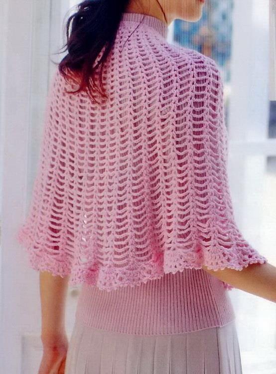 23 Best Long Crochet Capes Images By Adele Fletcher On Pinterest
