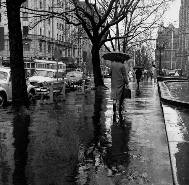 Untitled [City] 1961-2 selenium toned gelatin silver print   by Sue Ford (1943-2009) - an Australian born photographer, film maker, and photomedia artist (this is Melbourne)