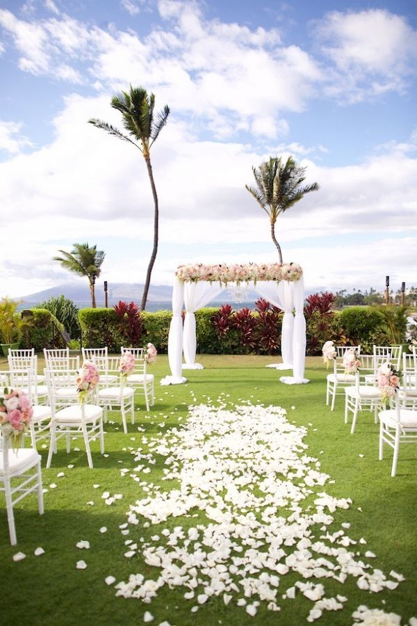Rose covered ceremony