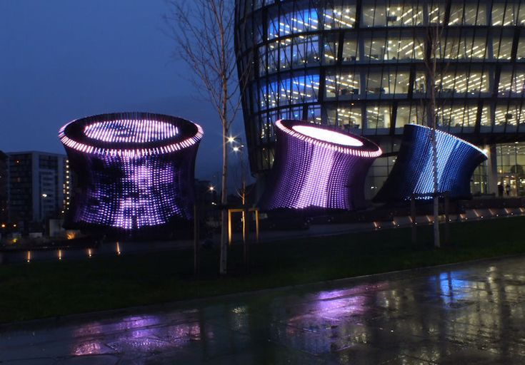 cundall adorns NOMA earth tubes with nearly 29,000 independent lights
