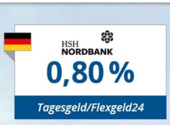Knaller: 0,8 Prozent Tagesgeld-Zins bei HSH Nordbank via Zinspilot https://www.discountfan.de/artikel/c_verbraucherschutz/knaller-08-prozent-tagesgeld-zins-bei-hsh-nordbank-via-zinspilot.php Die Tagesgeld-Zinsen befinden sich seit Monaten auf einem Tiefststand. Jetzt prescht die HSH Nordbank vor und bietet via Zinspilot satt 0,8 Prozent, obendrein gibt es alle zwei Wochen eine Auszahlung. Knaller: 0,8 Prozent Tagesgeld-Zins bei HSH Nordbank via Zinspilot (Bild: Zinspilot.de