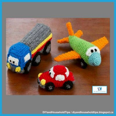 DIY And Household Tips: Crochet Happy Little Car, Plane, And Truck (FREE P...