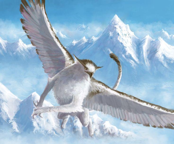 Snowy Griffin By Eyari On Deviantart Fantasy Pinterest border=
